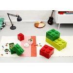 Room Copenhagen Contenitore Lego Storage Brick 1, rotondo, bianco