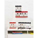 Room Copenhagen Lego Minifigure Display Case 16, red