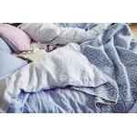 Langø Pillowcase, linen, light blue-white