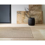 Woodnotes Line rug, natural - black