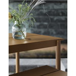 Muuto Linear Steel pöytä 140 x 75 cm, poltettu oranssi