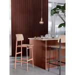 Muuto Loft bar stool 65 cm, black - oak