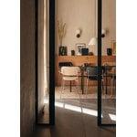 Menu Walker ceiling/wall lamp, opal - bronzed brass