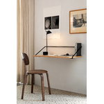 Menu Rail desk, natural oak - black
