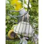 Marimekko Tiiliskivi puutarhakassi, beige - tummanvihreä