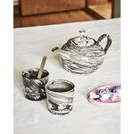 Hay Marbled teapot, black