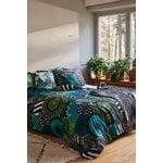Marimekko Siirtolapuutarha pillowcase , white-green-black