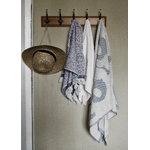 Marimekko Unikko Jacquard hand towel, off-white - blue