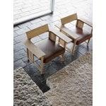 Mattiazzi Clerici lounge chair, oak - light brown leather