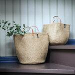 Mifuko Kiondo basket with handles M, natural