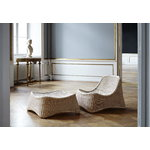Sika-Design Chill lounge chair and stool, rattan