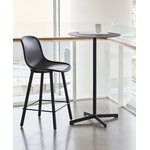 Hay Neu 12 bar stool, soft black - black oak - black