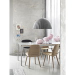 Muuto Fiber armchair, tube base, Remix 183 - black