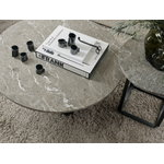 New Works Florence coffee table 90 cm, black - grey marble