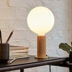 Tala Knuckle table lamp with Sphere IV bulb, oak