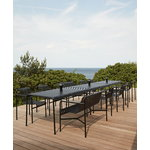Hay Palissade dining bench, anthracite