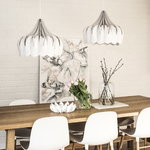 Showroom Finland Pioni pendant, large, white