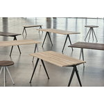 Hay Pyramid table 01, black - smoked oak