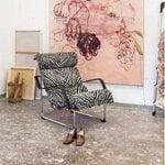 Yrjö Kukkapuro Remmi lounge chair, chrome - Artek Zebra