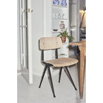 Hay Result chair, black - matt lacquered oak