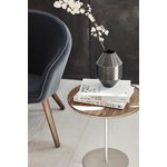 Fredericia Pal table, 44 cm, stainless steel - oiled oak