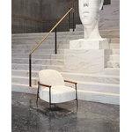 Gubi Sejour lounge chair with armrests, Artemidor001-walnut-antique b