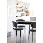 Verpan Series 430 dining table 120 cm, black laminate