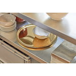 Hay Serving tray, round, golden