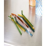 Hay Sip Swirl straws, 6 pcs, glass