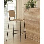 Hay Soft Edge 10 bar chair, 75 cm, black - matt lacquered oak, PU la