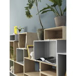 Muuto Stacked 2.0 shelf module w/ background, medium, oak