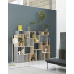 Muuto Stacked 2.0 shelf module w/ background, small, light grey