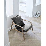 Stolab Link easy chair, oak - black leather