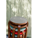 Artek Aalto stool E60, pewter linoleum - walnut