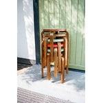 Artek Aalto stool E60, walnut