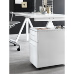 String Furniture String Works, mobile storage unit, white