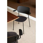 Menu Co Chair with armrests, black oak