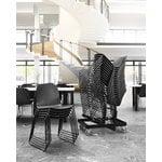 Muuto Visu chair, steel frame, black, PU lacquer