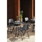 Woud Ray café chair, charcoal black