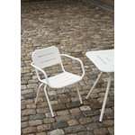 Woud Ray café table 65 cm, square, white