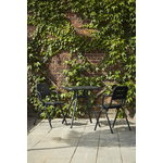 Woud Ray café table 65 cm, square, charcoal black