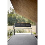 Woud Ray bench with armrests, charcoal black
