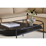 Woud Verde coffee table, brown marble