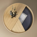 Woud Arc coffee table, oiled oak
