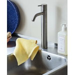 Hay Waffle dishcloth,  terracotta - yellow