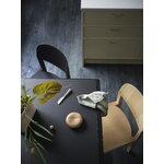 Muuto Workshop table, 200 x 92 cm, black - black linoleum