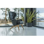 Fasetti Siesta armchair, oak legs, black leather