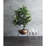 By Lassen Kubus 4 candleholder, nickel
