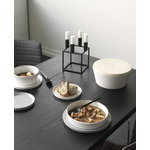 By Lassen Conekt table, black stained ash - stainless steel