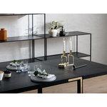By Lassen Conekt pöytä, mustaksi petsattu saarni - messinki